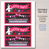 EDITABLE Cupid Poop Valentine's Day Gift Tags, Friend Classroom Classmate Printable, Valentine's Day Treat Bag Toppers, INSTANT DOWNLOAD