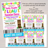 Daddy Daughter Dance Set School Dance Flyer Party Invitation Hawaiian Luau Event Church Community Event, pto, pta,