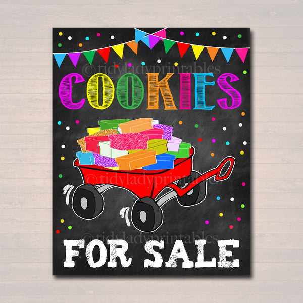 Cookie Walk Sign, Stop Cookies Sold Here, Printable Cookie Wagon Sales Banner, Cookie Booth Poster, INSTANT DOWNLOAD Fundraiser Booth Sign