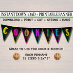PRINTABLE Cookie Booth Banner, Cookie Sign, Printable Bunting Banner, Cookie Booth Decor Printables, Cookie Sales Bunting, INSTANT DOWNLOAD