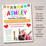 EDITABLE Kids Benefit Fundraiser Flyer Printable Charity School Church Benefit Fundraiser Event Poster Digital Childhood illness Donor Drive
