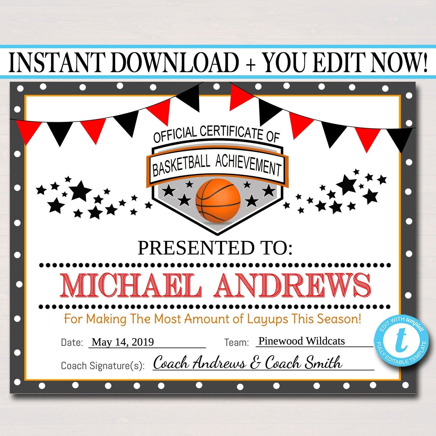 It's just a graphic of Printable Basketball Certificates in volleyball