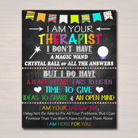 Therapist Office Decor, I am Your School Counselor Sign, Psychologist Gift, Counseling Office, Counselor Gift Wall Art, INSTANT DOWNLOAD