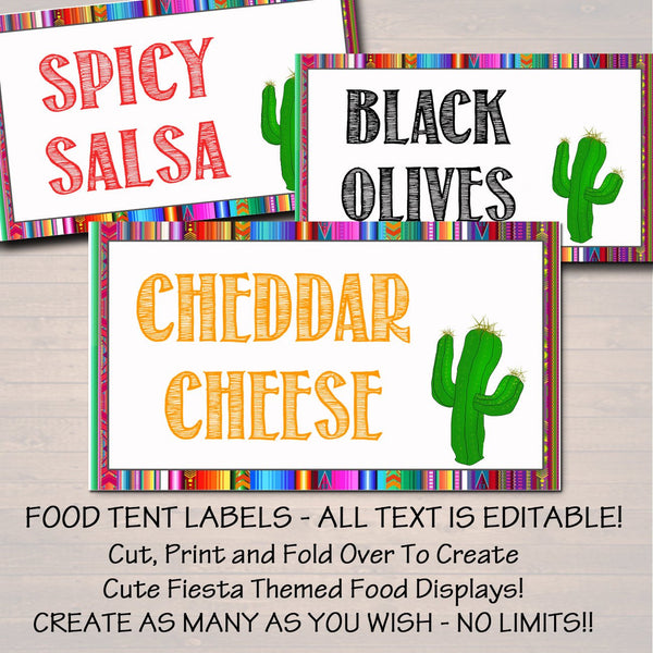 photograph about Party Signs Printable identified as Editable Fiesta Indications, Printable Mexican Concept Get together Decor, Commencement, Little one Bridal Shower, Cinco de Mayo, Taco Nacho Bar Prompt Down load