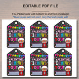 EDITABLE Bubble Gum Valentine's Day Gift Tags, Friend Classroom Classmate Printable, Valentine Gumball, I Chews You Tags, INSTANT DOWNLOAD