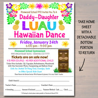 EDITABLE Daddy Daughter Dance Set School Dance Flyer Party Invitation Hawaiian Luau Event Church Community Event, pto, pta, INSTANT DOWNLOAD