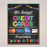 PRINTABLE Credit Card Sign, Fundraising Booth, Bake Sale, Cookie Booth Sign We Accept Credit Cards Scouts Cookie Banner, Cookie Booth Poster