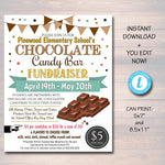 Chocolate Fundraiser Event Flyer - Editable Template