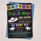 Editable Cinco De Derby Fiesta Nacho Average Baby Shower Invitation Chalkboard Printable Baby Sprinkle Couples Party Invite INSTANT DOWNLOAD