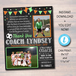 SOCCER Coach Gift, Coach Award, Soccer Team Gift, End of Season Soccer Banquet, Custom Best Coach Gift, Team Soccer Photo, Football Gift