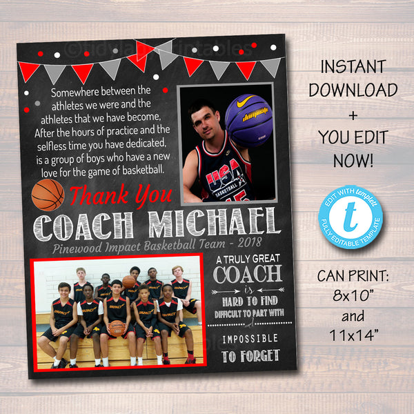 Basketball Coach Gift, Coach Award, Basketball Team Gift, End of Season Basketball Banquet, Custom Best Coach Gift, Team Basketball  Photo