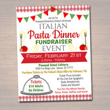 EDITABLE Spaghetti Dinner Fundraiser Flyer, pto pta, Church Community School Benefit Event, Italian Pasta Dinner Benefit, INSTANT DOWNLOAD