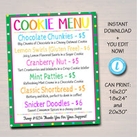 EDITABLE Cookie Booth Sign, Digital File, Troop Leader, Cookie Banner, Bake Sale Sign, INSTANT DOWNLOAD Fundraiser Printables