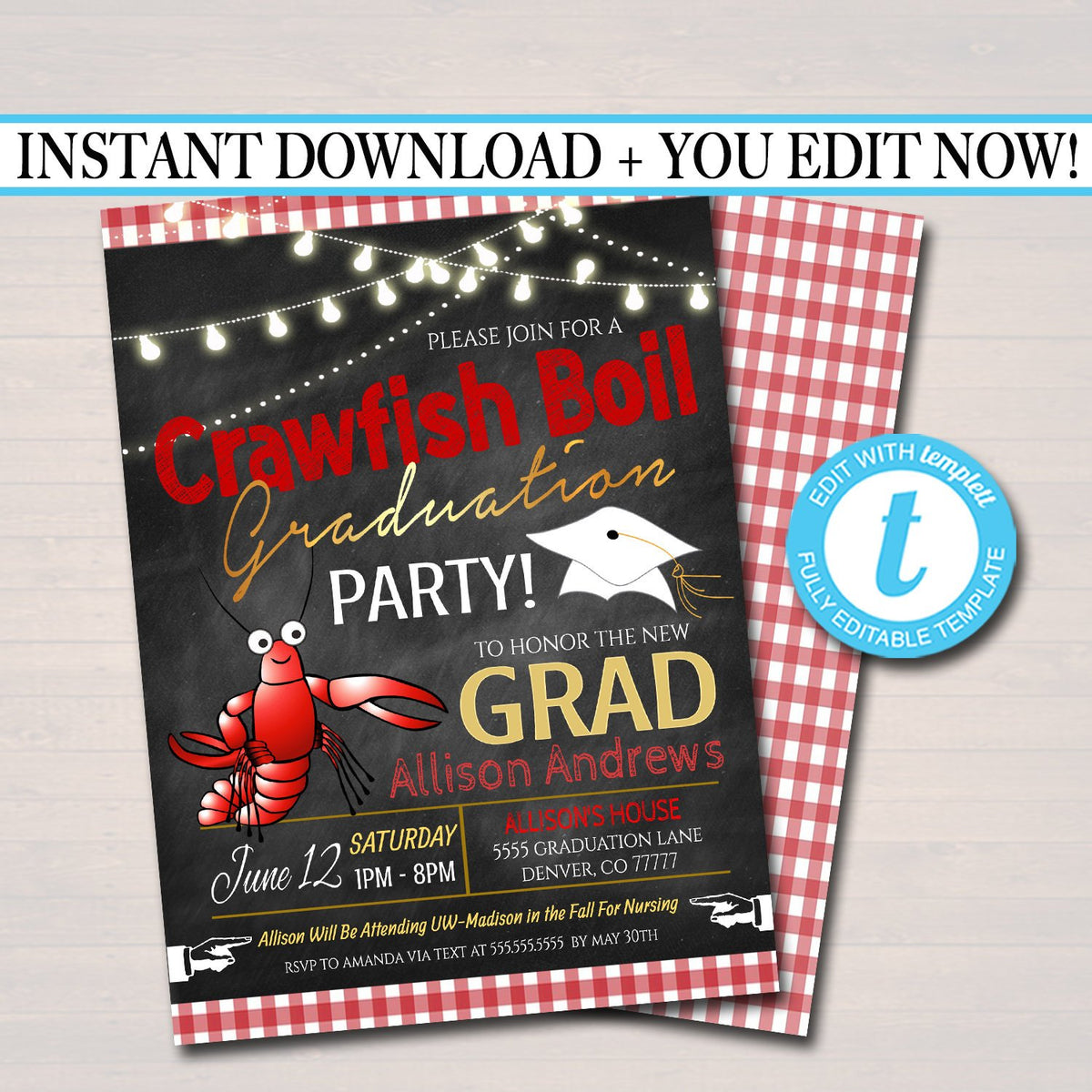 It's just a graphic of Crawfish Boil Invitations Free Printable within fundraiser