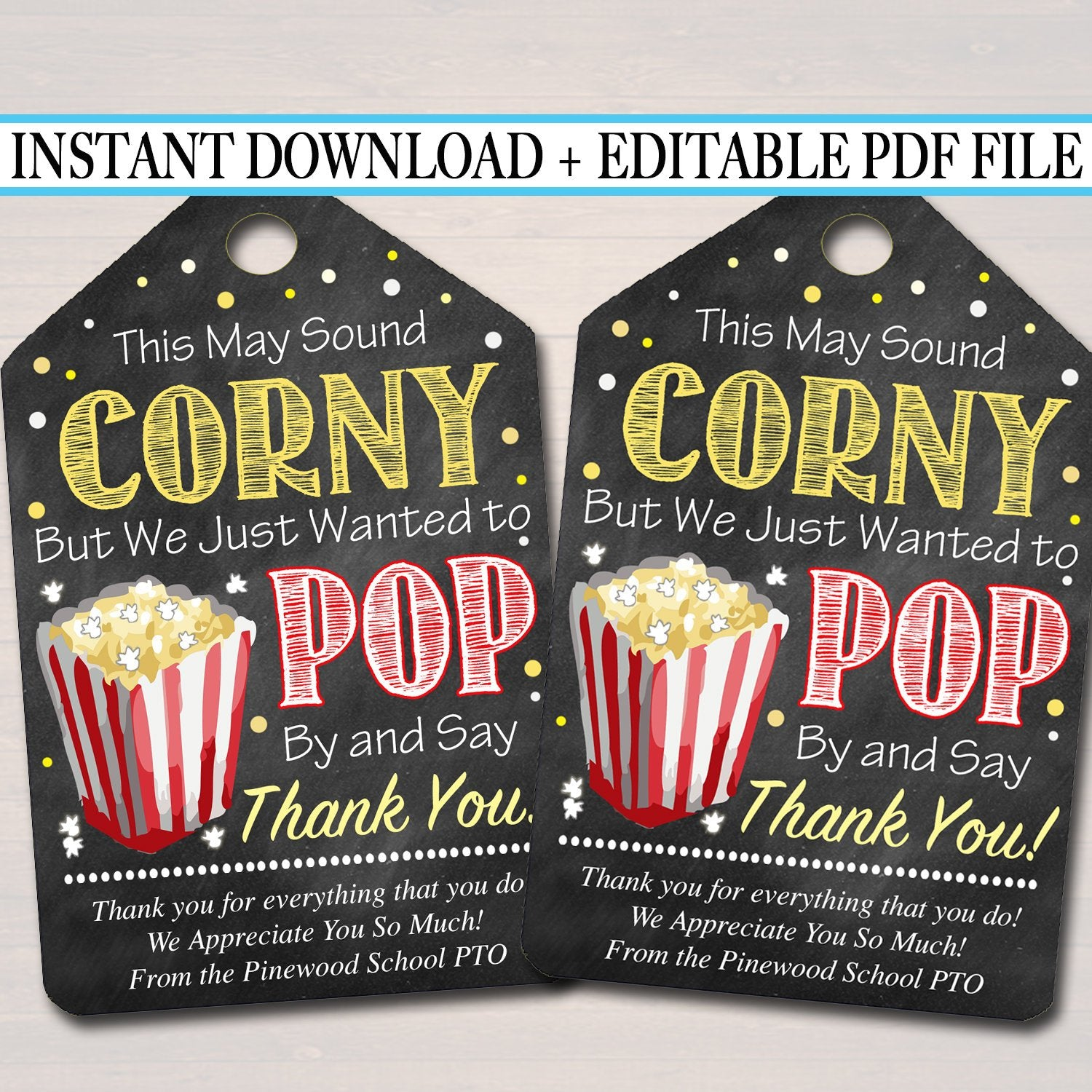 It's just an image of Popcorn Teacher Appreciation Printable pertaining to coke and popcorn