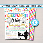 Grandparents Day Invite Breakfast Social Event - Printable Template