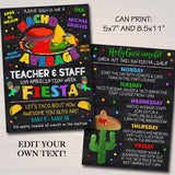 EDITABLE Nacho Average Teacher Appreciation Week Itinerary Invite, Fiesta Theme Appreciation Week Schedule Events INSTANT DOWNLOAD Printable