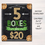 Cookie Booth Price Sign, Stop Cookies Sold Here, Printable Cookie Drop Banner, Cookie Booth Sales Poster, INSTANT DOWNLOAD Fundraiser Booth