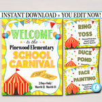 School  Carnival / Festival Signs & Decor - Editable Template