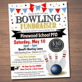 Bowling Fundraiser Event Flyer - Editable Template