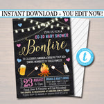 EDITABLE Gender Reveal Baby-Q BBQ Picnic Invitation, Baby Sprinkle, Couples Shower Grill Out Celebration, Grill Out Co-ed Baby Shower Invite