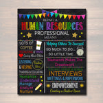 Human Resources Professional Inspirational Art, HR Manager Gift, Office Decor Printable Wall Art, , Hr Assistant Poster Gift