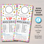 EDITABLE Room Service Door Hanger, INSTANT DOWNLOAD, Teacher and Staff Appreciation Ideas, Printable Editable Thank You Tags, School Pto Pta