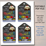 EDITABLE Bundt Cake Gift Tags, First Day of School Staff Teacher Gift, Printable Cake Label Wishing You a Great School Year INSTANT DOWNLOAD