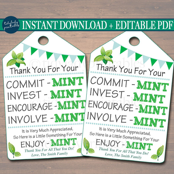 photograph relating to Printable Thank You Tags identified as Printable Thank Yourself Tags, Volunteer Mint Labels, Printable, Fast + EDITABLE, Thank On your own Reward, PTA Personnel Reward Appreciation Mint Like Label