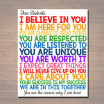 Dear Students Classroom Teacher Poster Sign