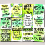 SET OF 12 Inspirational Watercolor Printable Posters School Counselor Teacher Social Worker Classroom Green Office Decor Kindness You Matter