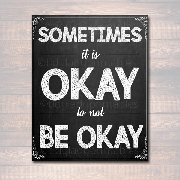 Counseling Office Poster, Counselor Office Decor, Therapist Office, Social Worker Sign, Counselor Gift Confidentiality It Is Ok to not be OK