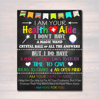 Health Aide Office Decor, I am Your Health Aide Sign Nursing Gift, School Health Office, Health Clinic Printable Wall Art INSTANT DOWNLOAD