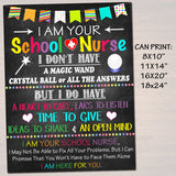 School Nurse Office Decor, I am Your School Nurse Sign Nursing Gift, School Health Office, Health Clinic Printable Wall Art INSTANT DOWNLOAD