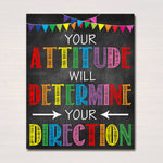 Classroom Printable Poster, Counselor Office Decor, Social Worker, High School Classroom Poster, Positive Attitude, Motivational Teen Art
