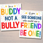 Anti Bully Poster Set, Classroom Decor, Counselor Office Decor, Educational Classroom Decor, No Bullying Prevention Signs School Office Art