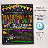EDITABLE Halloween Costume Swap Flyer, Kids Costume Drive Fundraiser Flyer/Poster Printable, Community Halloween Event Church School Pto Pta
