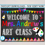 Art Teacher Classroom Door Sign, Printable Classroom Decor, Custom Teacher Sign, Back to School, School Door Sign, Teacher Door Hanger