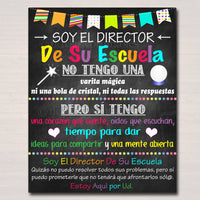 Spanish School Principal Office Decor, I am Your School Principal Sign, School Administrator Office Gift, Principal Art, INSTANT DOWNLOAD