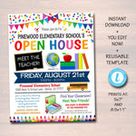 School Open House Event Flyer - Editable Template