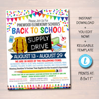 graphic relating to School Supply Coupons Printable titled EDITABLE Higher education Present Commitment Flyer, Printable PTA PTO Flyer