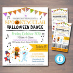 EDITABLE Halloween School Dance Set School Dance Flyer Party Invite, Church Community Event, Fundraiser Dance, pto pta, INSTANT DOWNLOAD