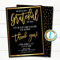 Appreciation Invitation, Corporate Event Party, Grateful For You Teacher Staff Invite, Customer Client Thank You, INSTANT DOWNLOAD Template