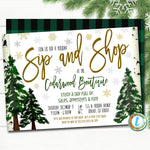 Holiday Open House Invitation, Christmas Boutique Shopping Event School, Church Small Business  Template, DIY Self-Editing Download