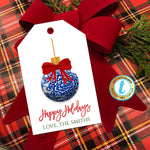 Christmas Ginger Jar Ornament Gift Tags, Elegant Red Ribbon Preppy Holiday Southern Style, Chinoiserie Chic, DIY Editable Template, Download