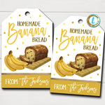 Banana Bread Gift Tags, Bakery Label, From the Kitchen Of, Homemade Gift, Employee Teacher Staff Nurse Week Appreciation, Editable Template