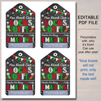 Christmas Sock Gift Tags Staff, Xmas Ugly Fuzzy Socks Mani Pedi Gift, Toe-Tally Amazing Teacher Staff Holiday Appreciation, INSTANT DOWNLOAD