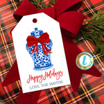 Christmas Ginger Jar Gift Tags, Xmas Gift Label Red Ribbon, Preppy Holiday Southern Style Chinoiserie Chic, DIY Editable Template Download