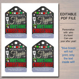 Christmas Gift Tags, Spatula Wish You a Flippin' Awesome Holiday Favor Tags, Teacher, staff Volunteer White Elephant, Xmas Bakery Treat Tag