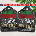 Christmas Lip Balm Tags, Merry Christmas & Chappy New Year Staff Secret Santa, White Elephant Chapstick Gift Tag, Printable INSTANT DOWNLOAD